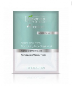 BIELENDA PURE SOLUTION FACE SHEET MASK Normalizująca maska w płacie 25g